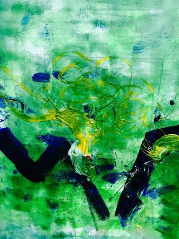 AUQA I , ÖL AUF LEINWAND , 50cm x 70cm, 2012