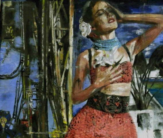 TASHA YAR, 2015, ÖL AUF LEINWAND, 120cm x 145cm